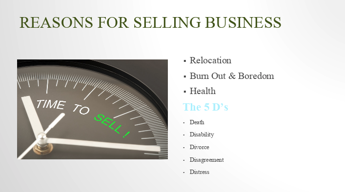 Image for Reasons for Selling Your Business