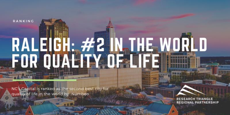 Image for Raleigh #2 In The World For Quality Of Life