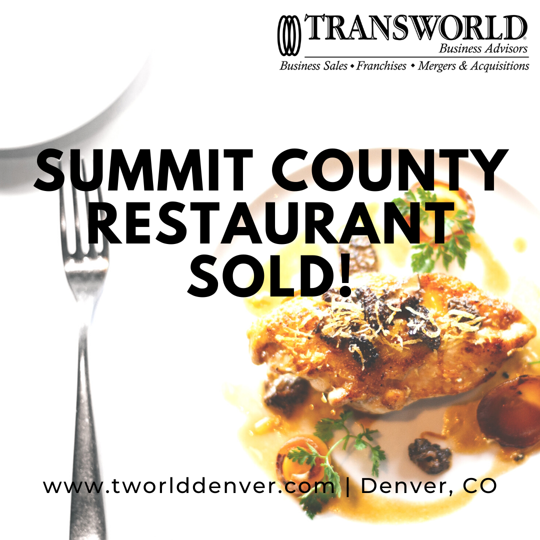 Summit County Restaurant Sold to New Business Owner by Business Broker, Chris Cantwell